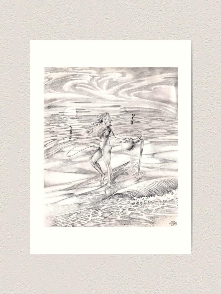 Alternate view of Aquarius Art Print