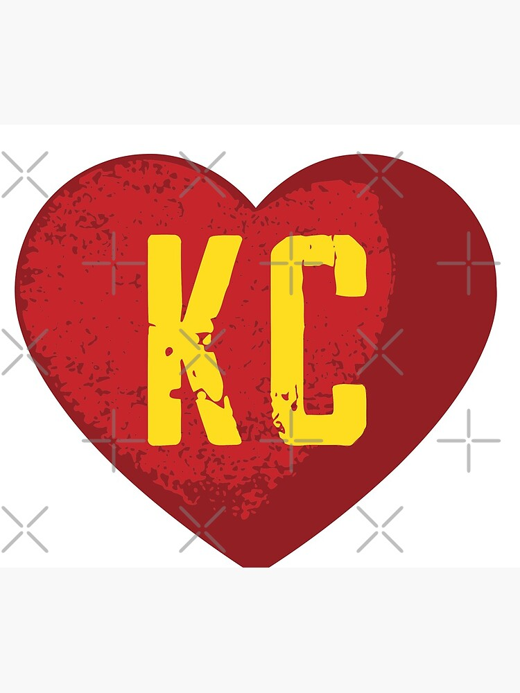 I love Kansas City Heart Vintage KC Football by danyc88