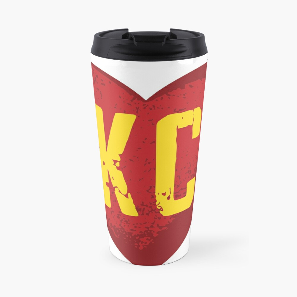 I love Kansas City Heart Vintage KC Football Travel Mug