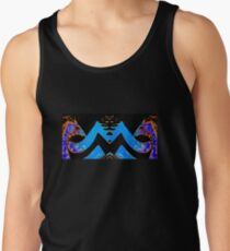 Blue and Gold Dragon Tee Tank Top