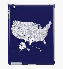USA States White iPad Case/Skin