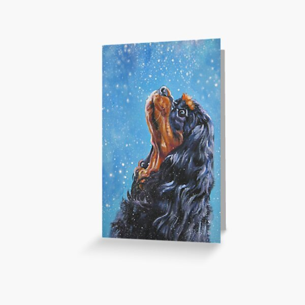 Cavalier King Charles Spaniel Fine Art Painting Greeting Card
