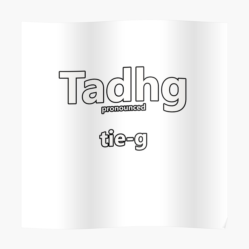 """Tadhg - how to pronounce this Irish boys name"""" Sticker by"""