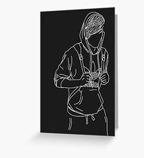 Louis Tomlinson Outline Greeting Card