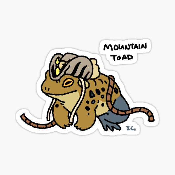 Mountain Toad Sticker