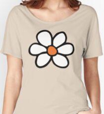 Hippie Blumenkarikatur Loose Fit T-Shirt