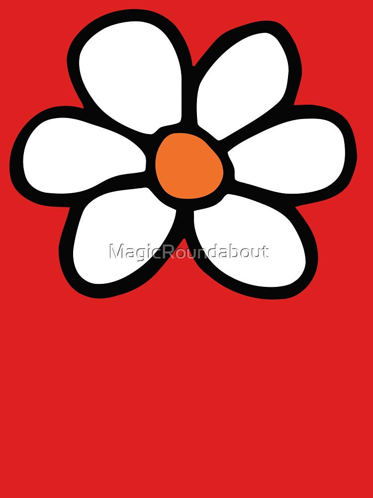 Hippie flower cartoon by MagicRoundabout