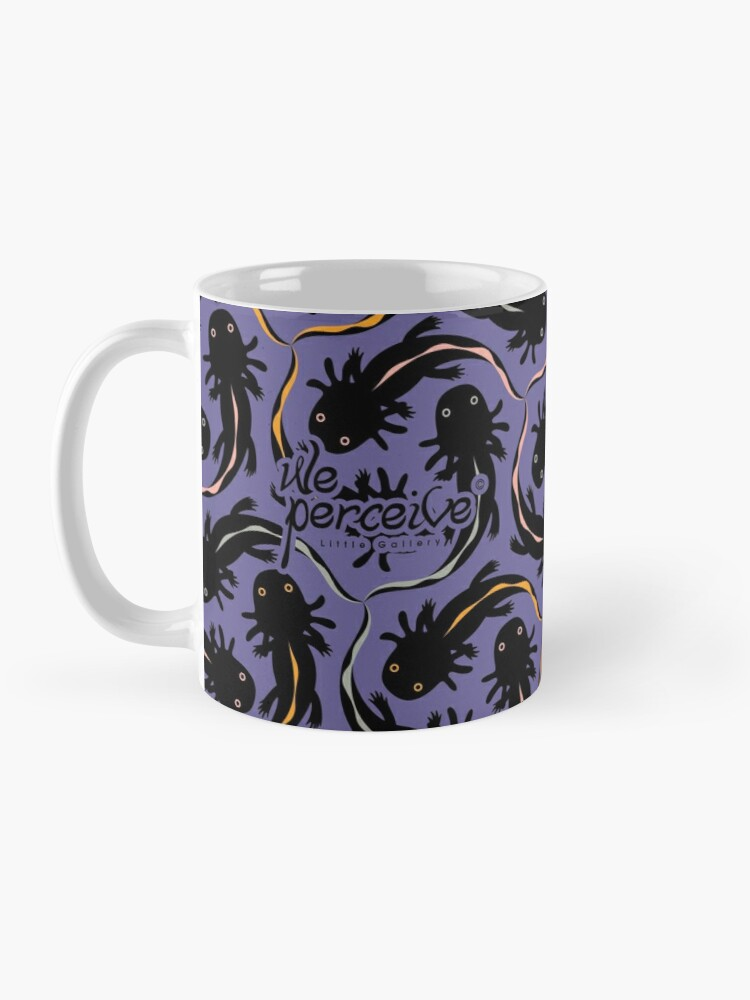 Alternate view of WE LOVE M.C. ESCHER style - Axolotl symmetrical pattern Mug