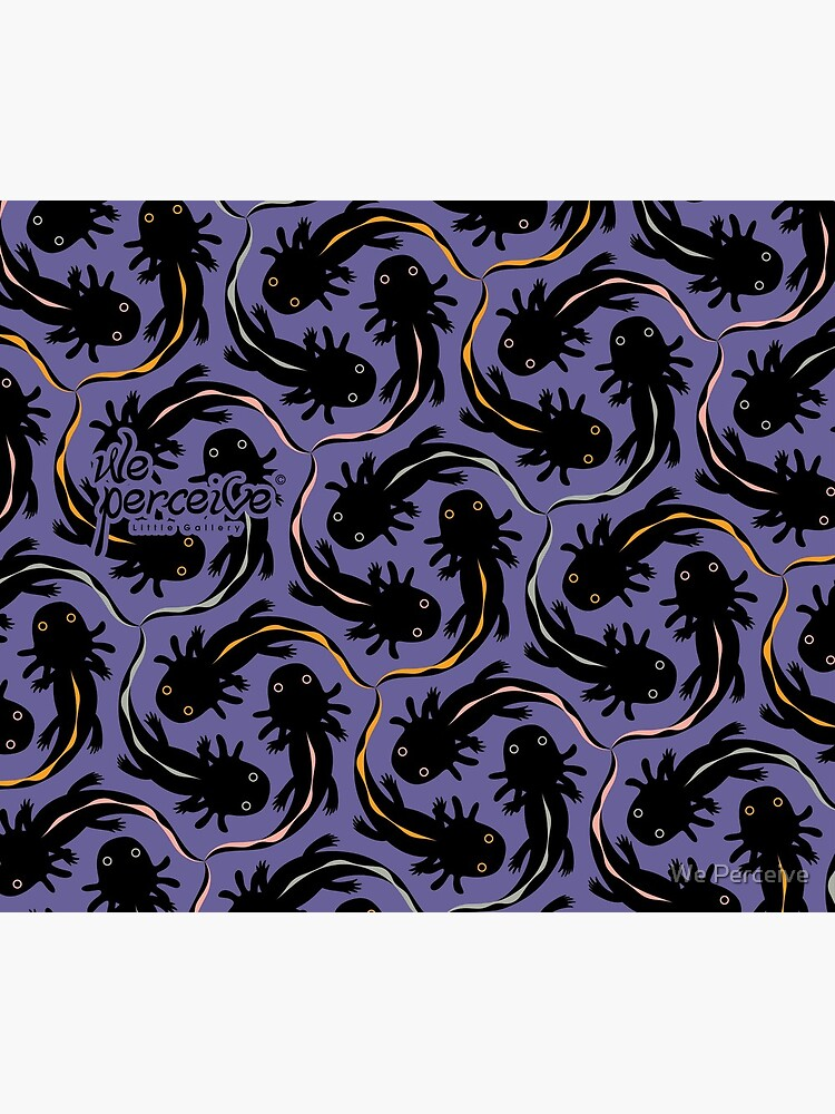 WE LOVE M.C. ESCHER style - Axolotl symmetrical pattern by CitizenWong