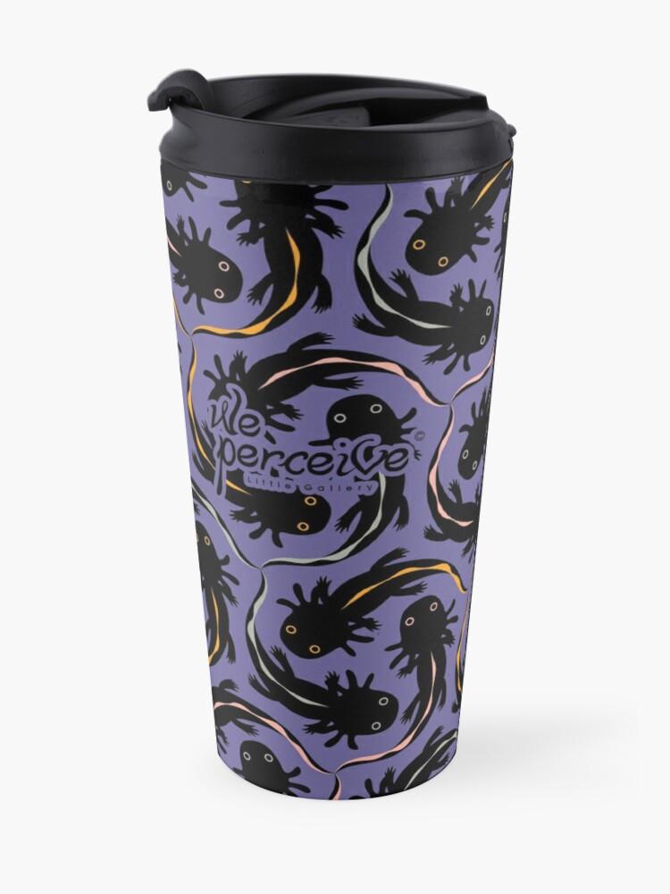 Alternate view of WE LOVE M.C. ESCHER style - Axolotl symmetrical pattern Travel Mug