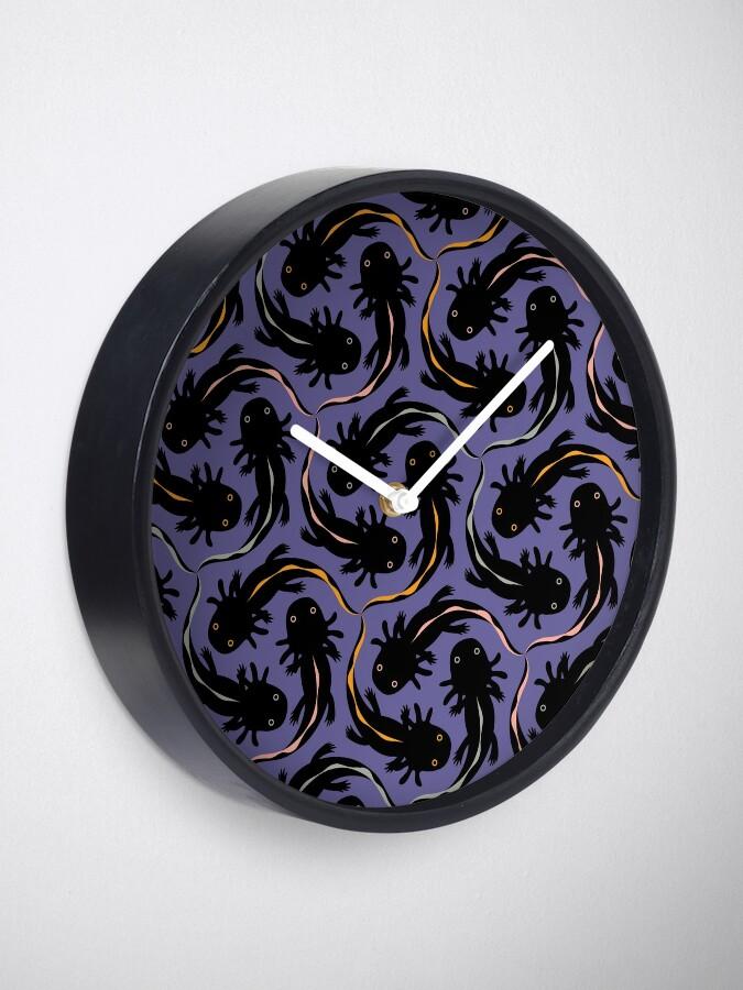 Alternate view of WE LOVE M.C. ESCHER style - Axolotl symmetrical pattern Clock