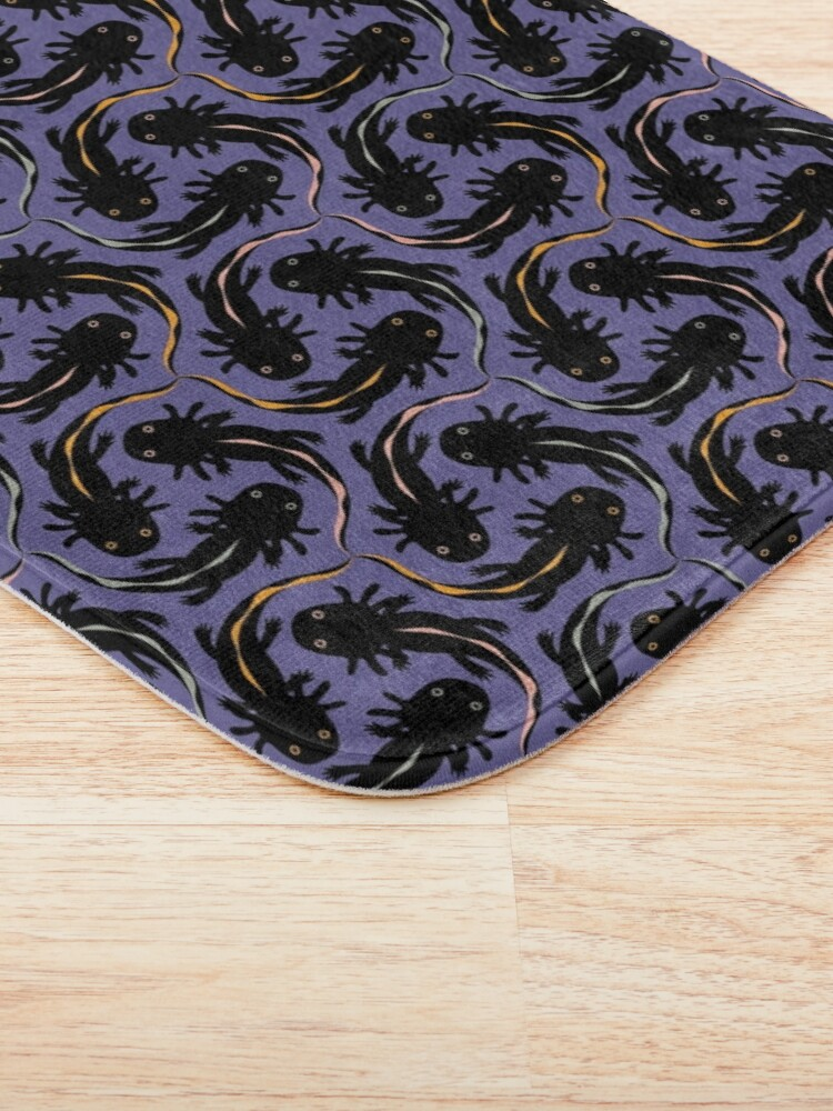 Alternate view of WE LOVE M.C. ESCHER style - Axolotl symmetrical pattern Bath Mat