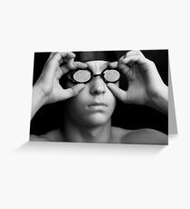 Swimmer in Thought Greeting Card