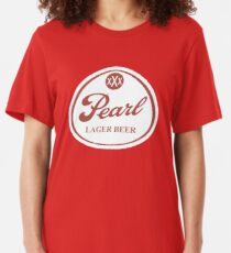 Pearl Lager Beer Slim Fit T-Shirt