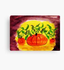 Happy Thanksgiving, watercolor Canvas Print