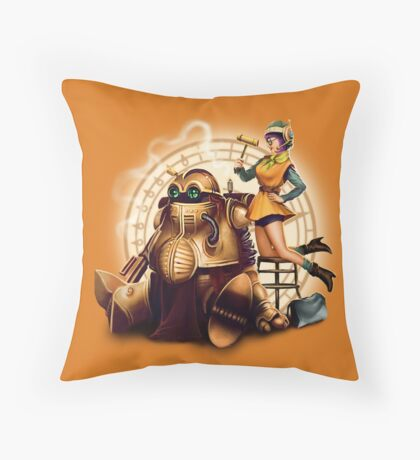 Lucca & Robo Throw Pillow