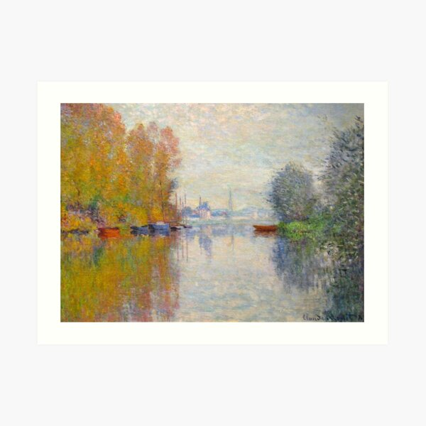 MONET. Autumn on the Seine at Argenteuil. 1873. Art Print