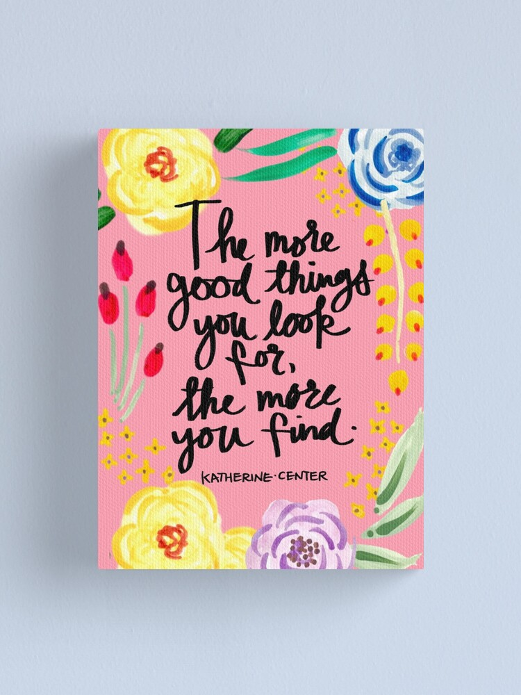 Alternate view of Good Things Canvas Print
