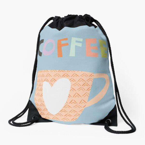 Time For Coffee Drawstring Bag