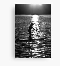 Paddle Boarding Canvas Print