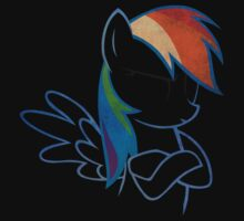 RainbowDash: Not amused Outline