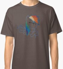 RainbowDash: Not amused Outline Classic T-Shirt