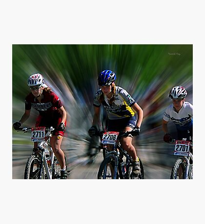 Quebec Cup Cycling Photographic Print