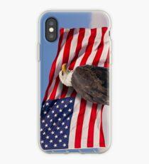 United we stand - Bald Eagle & American Flag iPhone Case