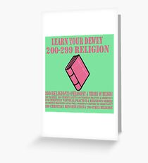Learn your Dewey 200 Greeting Card