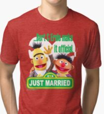 Bert & Ernie - Just Married Tri-blend T-Shirt