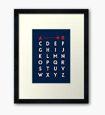 A to B (v2) Framed Print