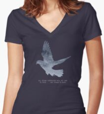 Blade Runner Quote Women's Fitted V-Neck T-Shirt