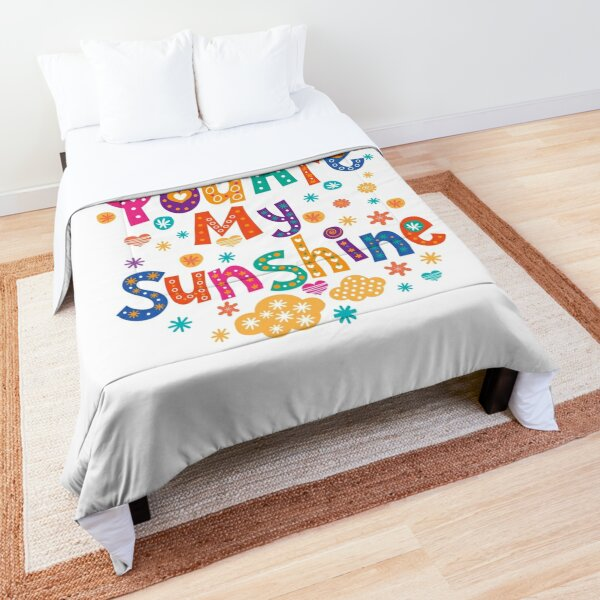 Cute Colorful You Are My Sunshine Lettering Comforter