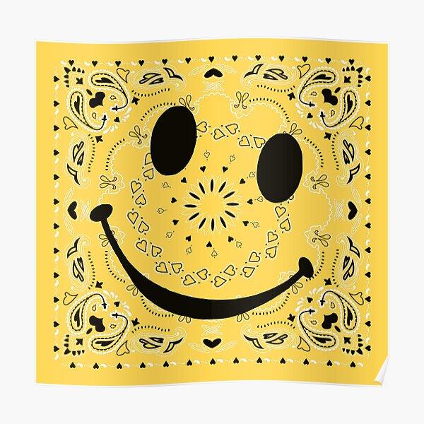ASAP  ROCKY ALL SMILES $MILES BANDANA Poster
