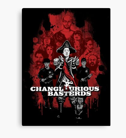 Changlourious Basterds (Any Shirt Colour) Canvas Print