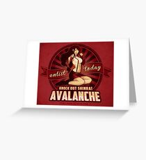 AVALANCHE Wants YOU! Greeting Card