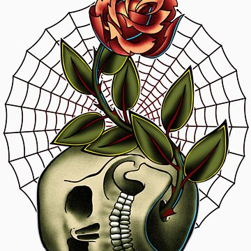 Skull and Rose by Ignitron