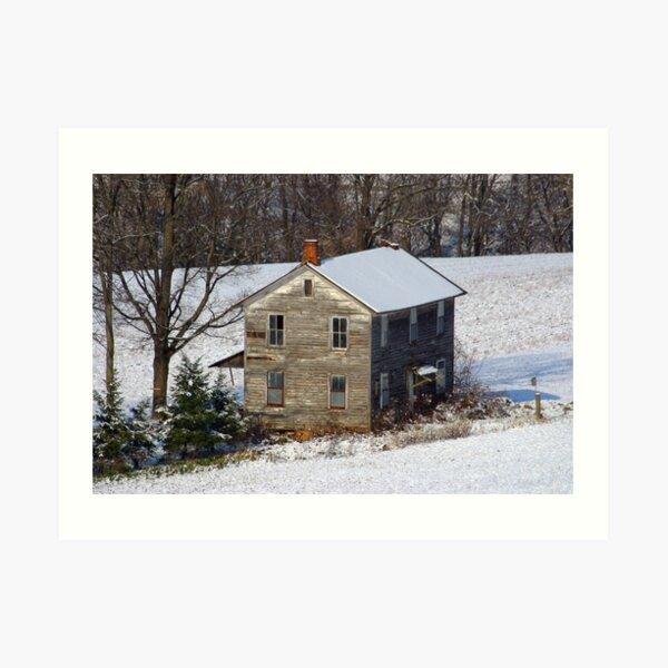 Forgotten Farmhouse... A Closer Winter View Art Print