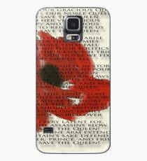 God save the Queen anthem over Poppie. Case/Skin for Samsung Galaxy