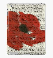 God save the Queen anthem over Poppie. iPad Case/Skin