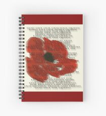 God save the Queen anthem over Poppie. Spiral Notebook