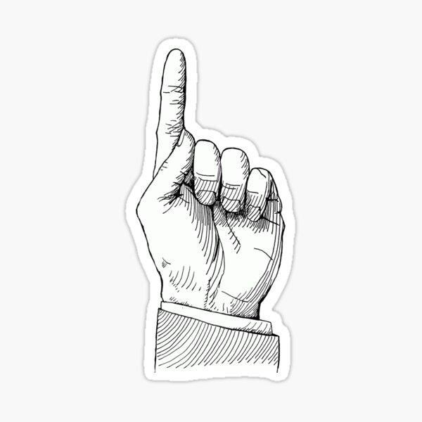 Pointing Finger! by oekart Sticker