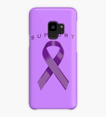 Purple Awareness Ribbon of Support Case/Skin for Samsung Galaxy