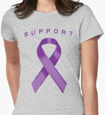 Purple Awareness Ribbon of Support T-Shirt