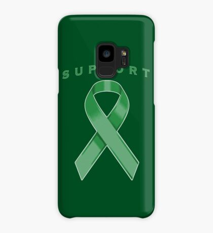 Green Awareness Ribbon of Support Case/Skin for Samsung Galaxy