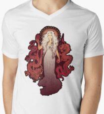 Dragon Mother Mens V-Neck T-Shirt
