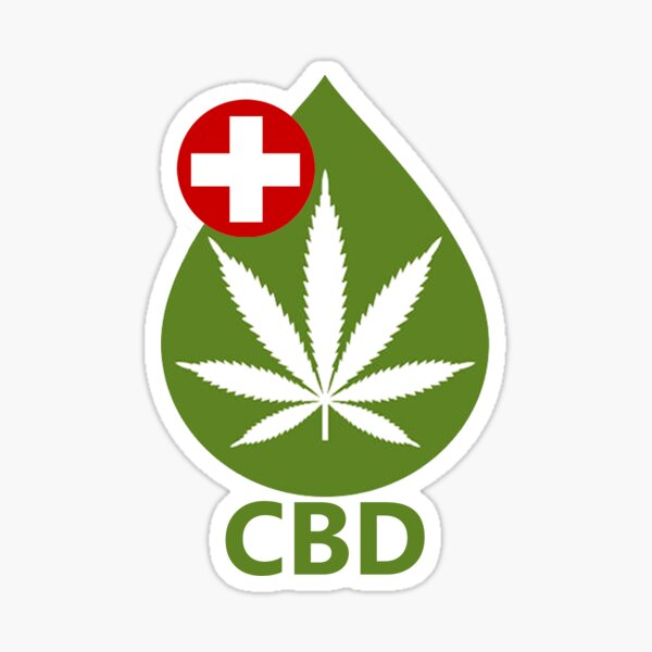 CBD logo: CBD stickers, CBD socks, CBD posters, CBD shirts, face masks, CBD phone cases & More CBD merchandise/accessories! Sticker