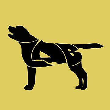 Labrador Golden Retriever Silhuette by MayaZ