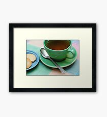 Elevenses on the Patio Framed Print