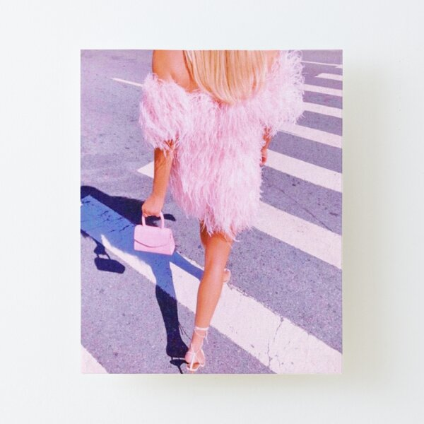 PRETTY IN PINK Canvas Mounted Print